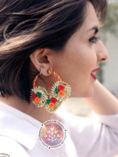 bridal jewelry for the radiant bride Tassel Jewelry, Fabric Jewelry, Bridal Jewelry, Beaded Jewelry, Handmade Jewelry, Tassel Earrings, Statement Earrings, Antique Jewellery Designs, Jewelry Design