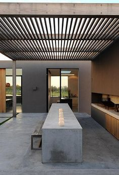 #outdoors a modern home in punta del este, uruguay by the style files, via Flickr