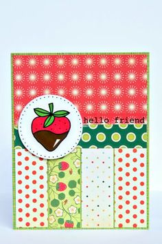 @Christine Ousley created this fun, bright card for the Operation Write Home Blog Hop & 3 day GIVEAWAY!