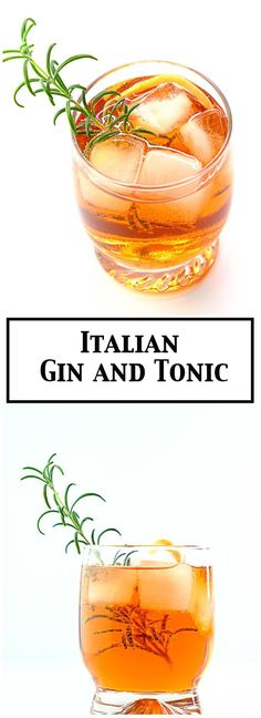 Italian gin and tonic - with Campari and vermouth! #gindrinks