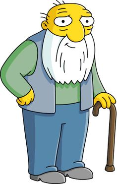 The Simpsons - Jasper Beardly, friend of Abraham Simpson and longtime Springfield resident