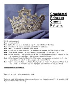 Tutorial on how to make a crown. Every girl should have one. (tutorial in Swedish - or something like that - I have translated as best as possible)