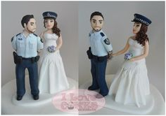 Police wedding cake topper - by I Love Cakes