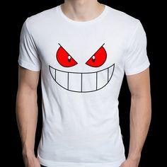 Nuevos hombres creativos Camisetas Pokemon Gengar camiseta cuello redondo de algodón Top Camisetas Casual manga corta T-shirt de verano Camisetas(China (Mainland))