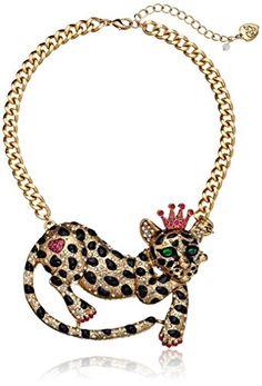 "Betsey Johnson ""Critter Boost"" Leopard Necklace, 19"" Betsey Johnson http://www.amazon.com/dp/B00H4HJ0V2/ref=cm_sw_r_pi_dp_kT4Gub10BYJEN"