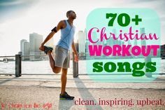 70 Christian Work-Out Songs! Clean, uplifting, and ONLY upbeat songs! Christian Workout Songs, Christian Music, Christian Videos, Fitness Diet, Fitness Motivation, Health Fitness, Fitness Music, Family Fitness, Upbeat Songs