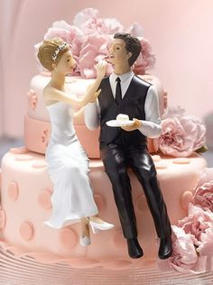 Bride and Groom Eating Cake Figurine Wedding Cake Topper manufacturing by WuXi Loonde Packing & Crafts Co. Product details of China Bride and Groom Eating Cake Figurine Wedding Cake Topper. Funny Wedding Cake Toppers, Bride And Groom Cake Toppers, Wedding Groom, Bride Groom, Cake Wedding, Wedding Favors, Uk Bride, Wedding Reception, Beautiful Wedding Cakes