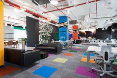 Dubai Technology Entrepreneur Centre (DTEC) - in Dubai, United Arab Emirates #government #commercialspaces #commercialinteriors #design #flooring Industrial Workspace, Commercial Interiors, Office Interiors, Interior Ideas, Dubai, Centre, Entrepreneur, Flooring, Cool Stuff