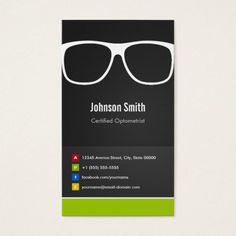 Certified Optometrist Optical Creative Innovative Business Card Zazzle Com Innovative Business Cards Business Cards Creative Templates Optometrist