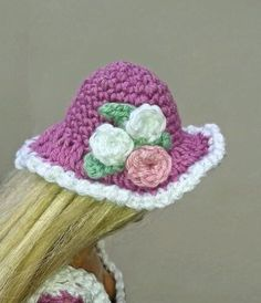 Its nearly Easter so I'vecrocheted a couple of bonnets for Barbie.   If your crocheting is fairly tight you might have to go up a coupl...