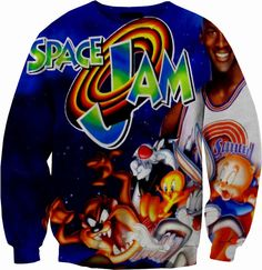 Space Jam Vintage Sweatshirt Crew Neck Sweater on Etsy, $59.87