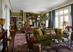 Miles Redd loves velvet sofas...and so do I