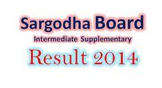 Sargodha board Inter supply result 2014