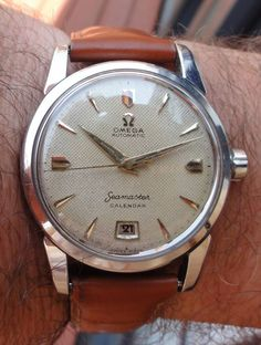 Beautiful Vintage OMEGA Seamaster Calendar In Stainless Steel Circa 1950s