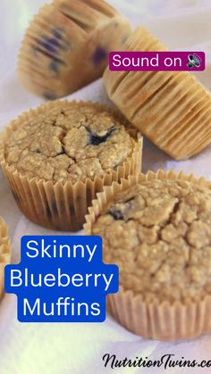 Healthy Treats, Healthy Desserts, Delicious Desserts, Healthy Eating, Healthy Recipes, Fun Baking Recipes, Sweet Recipes, Cooking Recipes, Skinny Blueberry Muffins