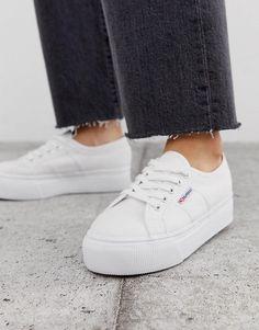 RRP £55 **50/% OFF!!** SUPERGA 2750 Cotu Classic Sneakers UK 11 Pinstripe