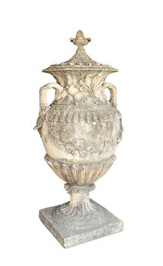 Baroque Style Garden Urn | From a unique collection of antique and modern garden ornaments at https://www.1stdibs.com/furniture/building-garden/garden-ornaments/