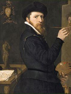 Isaac Claesz. van Swanenburg (1537 Leiden 1614) self-portrait.