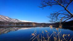 凍てつく朝の青木湖2