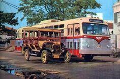 Jardineira de 1924 e ônibus elétrico de 1954