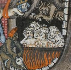 While 1 demon is hard at work & the other is just kickin it - The expressions say it all http://gallica.bnf.fr/ark:/12148/btv1b8452762k/f136.item.r=dragon.zoom … @GallicaBnF