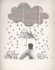 It would be neat to use newspaper background and words cut out after printing. Newspaper Crafts, Book Crafts, Book Page Art, Book Art, Journal D'art, Ecole Art, Art Portfolio, Altered Books, Art Plastique