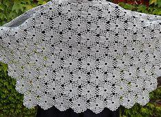 Сrochet Flower Motif. Crochet Shawl. Tutorial. Part 2