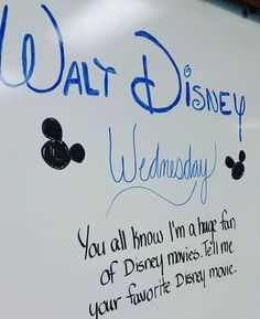 Last week's Wednesday #miss5thswhiteboard. I had to show off my Disney letters, because I know this will never happen again!