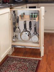 Rev-A-Shelf - Filler Pullout Organizer with Stainless Panel Sink & Base Accessories