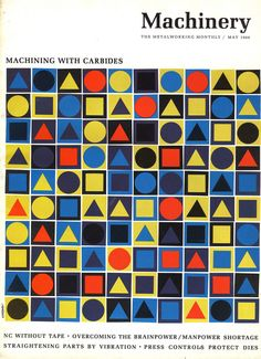 'Machinery' magazine,1966. Machinery doesn't have to be boring! Or show machines!