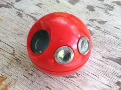 MOD Retro Orange Plastic Round Panasonic by foreverfawning on Etsy, $18.00