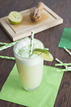 Lime Sherbet Floats (same as punch- scaled down to per glass recipe)