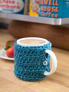 Ravelry: One Stitch Mug Cozy pattern by Lion Brand Yarn