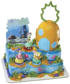 SpongeBob Birthday Cake Kit for Birthday Cakes Luau Cakes, Spongebob Birthday Party, Cake Kit, Cake Decorating Kits, Cake Gallery, Cookie Designs, Creative Cakes, Cupcake Cakes, Cupcakes