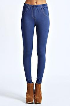 Mallory denim look supersoft jegging