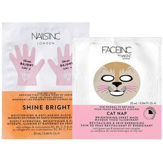 Nails Inc Nails Inc Face Inc Cat Nap And Shine Bright Hand Mask (18 AUD) ❤ liked on Polyvore featuring beauty products