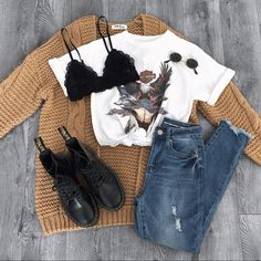 Fall Outfit Ideas: How to Look Stylish in the Cold Season!When you start to feel the cold of the nights, it's time to get ready for the cold days, to take Teenage Outfits, Teen Fashion Outfits, Casual Winter Outfits, Retro Outfits, Outfits For Teens, Trendy Outfits, Fall Outfits, Cute Outfits, Ootd Fashion
