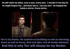 TENnant will always be my doctor! His dark side was GLORIOUS!