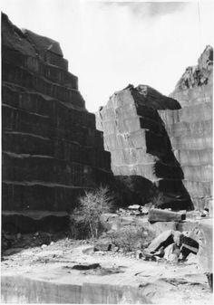 Red Rock Quarry ~ Colorado Springs Colorado ~ 1920...a building in Denver made with this stone is one of the most haunted places in America. Dogs reportedly jump out the second story window.