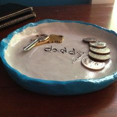 Easy-to-make clay catchall, for a father's day present.
