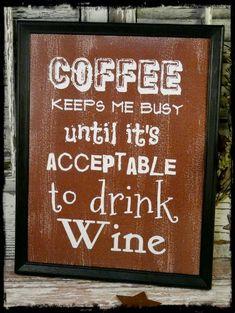 Coffee & Wine sign digital PDF  Brown funny art by Hudsonsholidays, $5.99