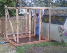 Coop - Building the frame with reclaimed 2x4s