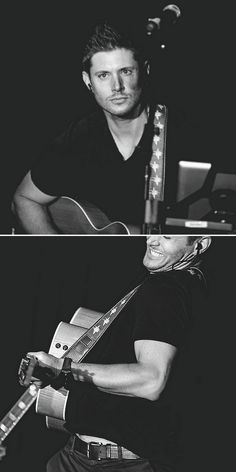 Jensen Ackles playing the guitar @ #VanCon2015 (Stardust and Melancholy) #JensenAckles