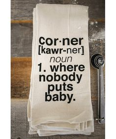 {corner | towel}