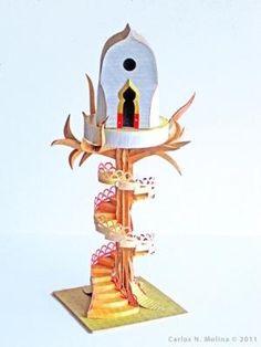 tree house paper sculpture by araceli