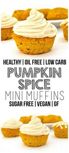 Pumpkin Spice Mini Muffins (Sugar-Free, Vegan, Low-Carb, Gluten-Free, Oil-Free)