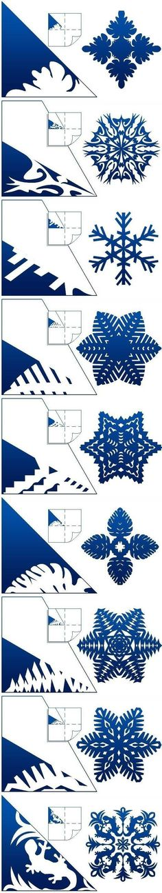 Diy schemes of paper snowflakes