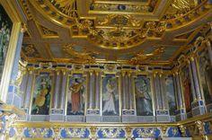 "Chateau d'Oiron - music room - decoration ""boiserie""  XIII century"