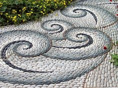 pebble mosaics | PATH__PEBBLE_MOSAIC_PATTERN__CHELSEA_2004__THE_CANCER_RESEARCH_UK_LIFE ...