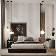 SENSE AND SENSIBILITY on Behance Modern Luxury Bedroom, Luxury Bedroom Design, Master Bedroom Interior, Bedroom Furniture Design, Master Bedroom Design, Contemporary Bedroom, Luxurious Bedrooms, Home Decor Bedroom, Modern Master Bedroom